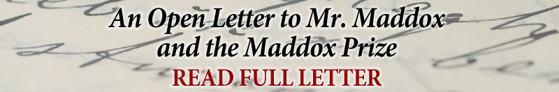 Letter to Mr Maddox