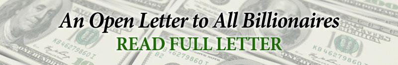Billionaires Letter